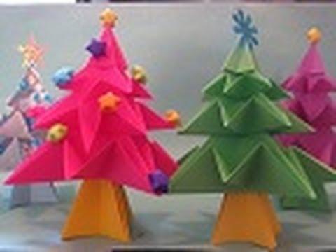 Cómo hacer un Arbolito de NAVIDAD en Origami - Floritere - 2011