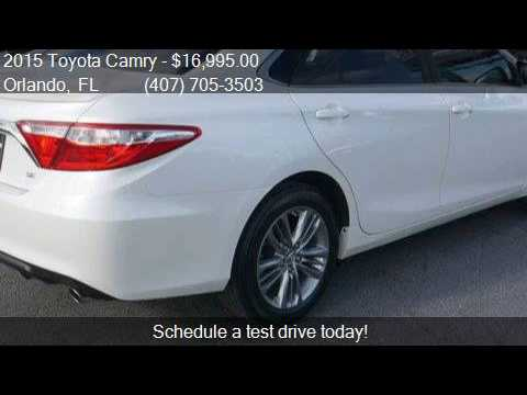 2015 Toyota Camry 4dr Sedan I4 Automatic SE for sale in Orla