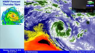 Cyclone Berguitta Coverage - 4-6am MUT, January 15 2018