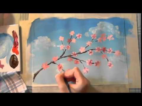 Простой рисунок красками поэтапно