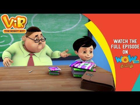 தமிழ் கதை Vir The Robot Boy Gintu Ban Gaya Teacher WowKidz தமிழ்