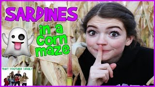 SARDINES IN A CORN MAZE - Hide and Seek Game/ That YouTub3 Family