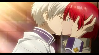 Akagami no Shirayuki- Zen (finally) kisses Shirayuki
