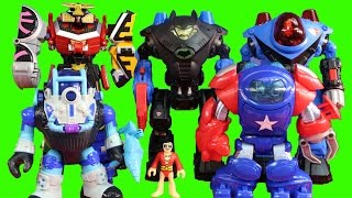 Imaginext Robot Wars Championship Battle Round 1 With Batman Superman Power Rangers Robots