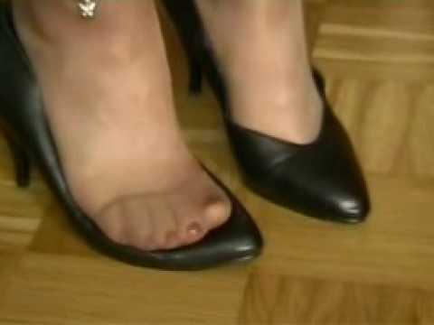 My feet in nylons