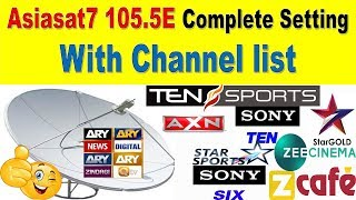How to set Asiasat7. Asiasat7 complete setting and Full information and channel list.