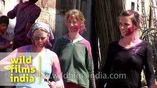 White women play Holi or get molested on the streets of Jodhpur?