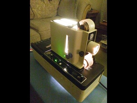 Dukane Micromatic II Filmstrip Projector Cleaning and Operating