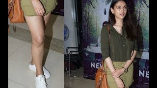 Aditi Rao Hydari HOT At newton Movie Screening