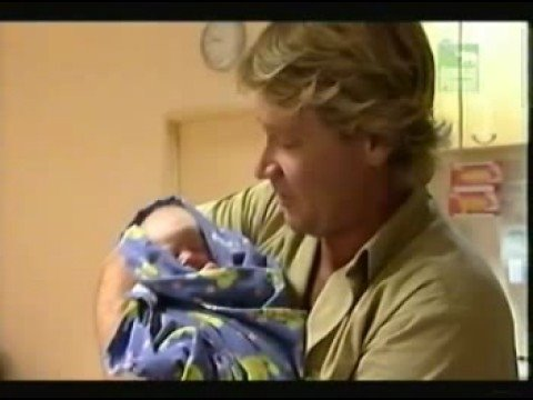 Steve Irwin hears the news about his 2nd child.