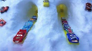 Disney Cars Toys Mcqueen Race in Snow