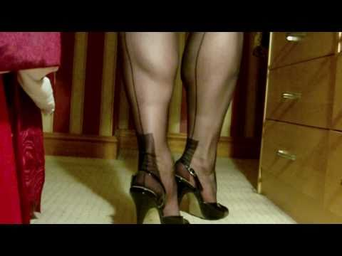 Black FF stockings and slingbacks 2