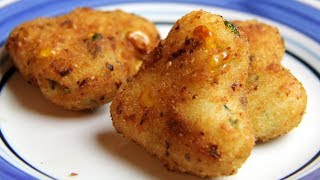 Suji/Rawa Cutlets Recipe /Easy evening tea snacks recipes/ Veg Party starters appetizer dish ideas