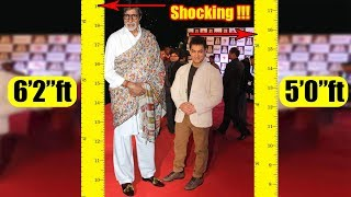 Shortest to Tallest all Bollywood actors Real heights | Shocking