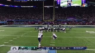 Stephen Gostkowski Shanks Field Goal After Bad Snap | Eagles vs. Patriots | Super Bowl 52 Highlights