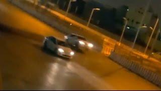 مطب في السعودية يجعل السيارات تطير ويتسبب في حوادث مرورية