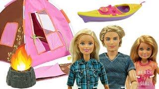 Barbie Kampta! Barbie, Ken ve Stacie'nin Kano, Hamak ve Kamp Ateşi Eğlencesi!
