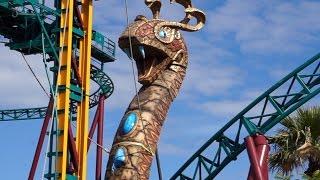 CHRISTMAS TOWN Busch Gardens WaLKTHRouGH tour COBRA'S CURSE coaster CHEETAH HUNT thrill rides MONTU