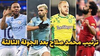 ترتيب هدافي الدوري الانجليزي بعد انتهاء الجولة الثالثة .... شاهد ترتيب محمد صلاح