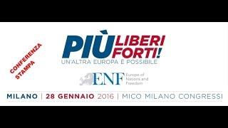 ENF - Conferenza stampa - ore 11.30 - Milano 29 gennaio 2016