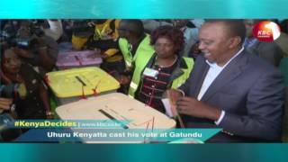 UHURU KENYATTA CAST HIS VOTE