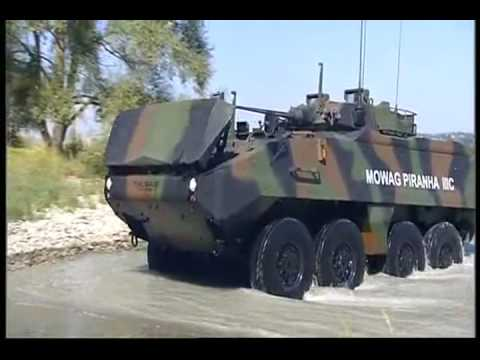 General Dynamics European Land Systems Mowag Piranha IIIC Armoured Personnel Carrier 8x8 480p