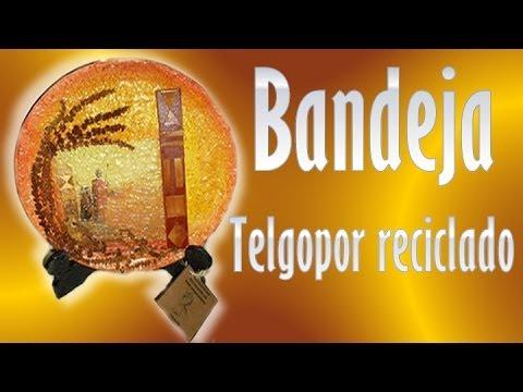 BANDEJA DE TELGOPOR RECICLADA