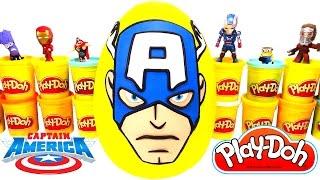 Kaptan Amerika Dev Sürpriz Yumurta Oyun Hamuru - Kaptan Amerika Oyuncakları, Minecraft