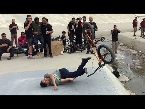 BMX LONG JUMP GONE EXTREMELY WRONG *KNOCKED OUT*