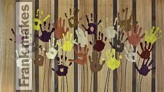 Wood Cut Handprint Art