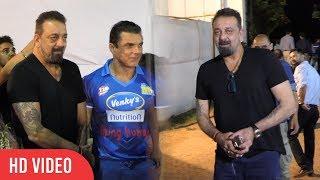 Sanjay Dutt (BABA) At Team Mumbai Heroes Cricket Match | Viralbollywood