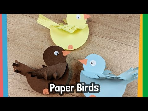 Xxx Mp4 How To Make Paper Birds Simple Craft Activity For Kids 3gp Sex
