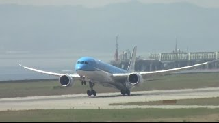 KLM(オランダ航空)B787-9離陸 PH-BHA 関西空港