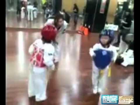 Xxx Mp4 Super Funny !Two Kids Taekwondo Danceing Duel O ∩ ∩ O 3gp Sex