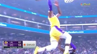 Lonzo Ball SHOWTIME Pass, LeBron James NASTY ALLEY OOP! Lakers vs Kings