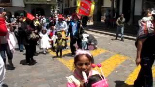 ٍPeruvian Children Parading in Colorful Costumes