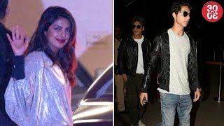 Priyanka, Farhan, Karan Attend Ritesh's Birthday Bash | Shah Rukh Comes To Airport To See Off Aryan