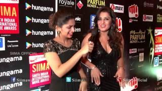 Nikita Thukral Talking About SIIMA | Red Carpet | SIIMA 2015 | Tamil