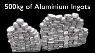 Making 526 kg (1160 lb) of Aluminium Ingots from Scrap Metal