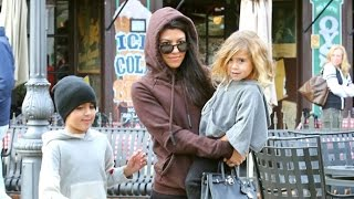 Kourtney Kardashian Asked If Kanye West Is OK While Taking Kids To Meet With Kris For Lunch
