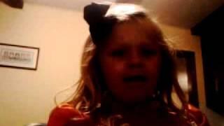 My 3 year old singing