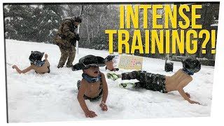 Father Subjects Kids to Sub-Zero Training ft. Silent Mike & Gina Darling
