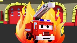 Frank The Fire Truck 🚒 and all his friends in Car City: Super Truck, Troy The Train & Police Car...