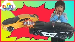 Racing Cars around the house Remote Control toy cars for kids Egg Surprise Toys Hot Wheels