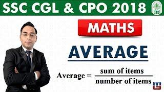 Average | Maths | SSC CGL | CPO 2018