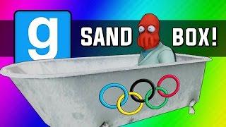 Gmod: Winter Olympics - Sled Build Race & Chaos! (Garry