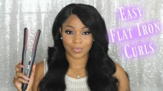How To: Curl Your Hair With A Flat Iron/Straightener Tutorial | UGlam Hair