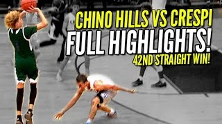LaMelo Ball Hits Halfcourt Shots Like Layups!! Chino Hills vs Crespi FULL Highlights!