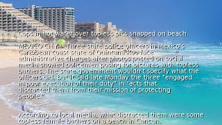 Cops in hot water over topless pics snapped on beach