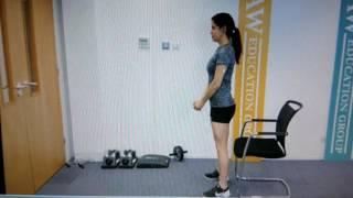تمرين السكوات للمبتدئين. . . Squat for beginners